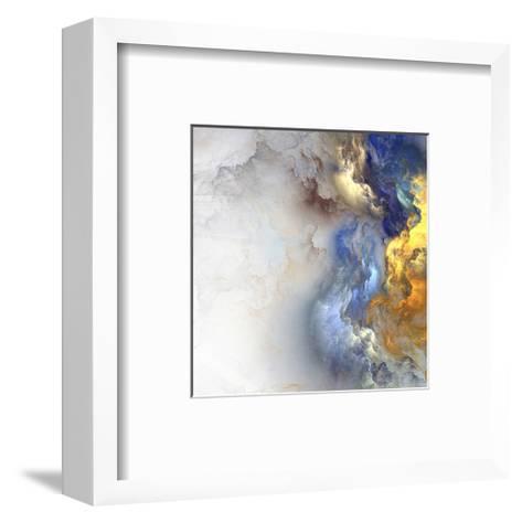 Cloud Like Blue Gold Color Mix--Framed Art Print