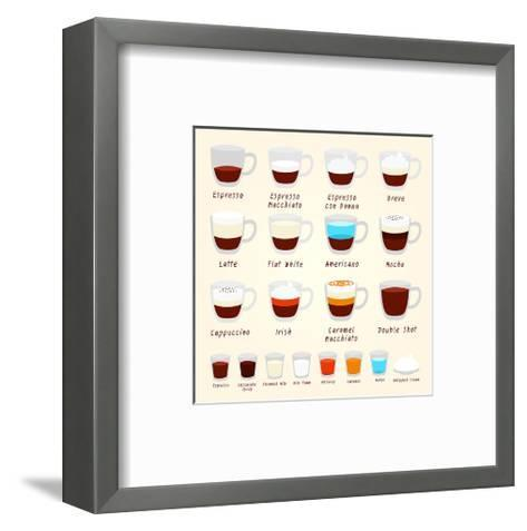Coffee Kinds And Mixes--Framed Art Print