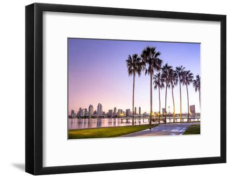 Downtown San Diego at Dawn Usa--Framed Art Print