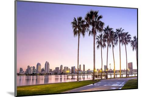 Downtown San Diego at Dawn Usa--Mounted Art Print