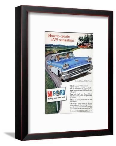 Ford 1958 - a V8 Sensation--Framed Art Print