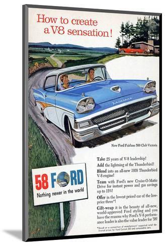 Ford 1958 - a V8 Sensation--Mounted Art Print