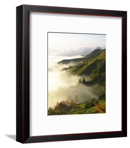 Foggy Japanese Valley in Fall--Framed Art Print