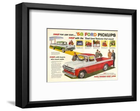 Ford 1958 `58 Ford Pickups--Framed Art Print