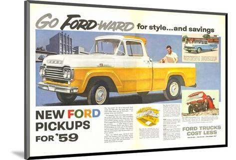 Ford 1959 Go Forward for Style--Mounted Art Print