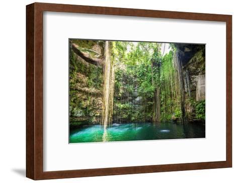 Falls Near Chichen Itza Mexico--Framed Art Print