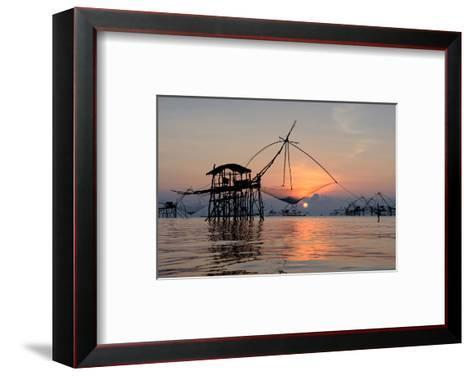 Fishing Patthalung Thailand--Framed Art Print