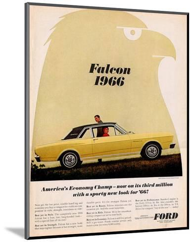 Ford 1966 Falcon Economy Champ--Mounted Art Print