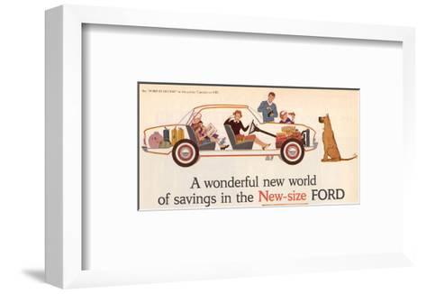 Ford 1960 New World of Savings--Framed Art Print
