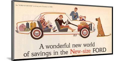 Ford 1960 New World of Savings--Mounted Art Print
