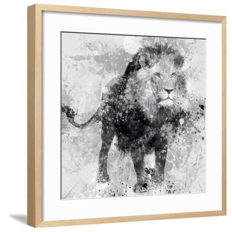 Lion-Carol Robinson-Framed Art Print