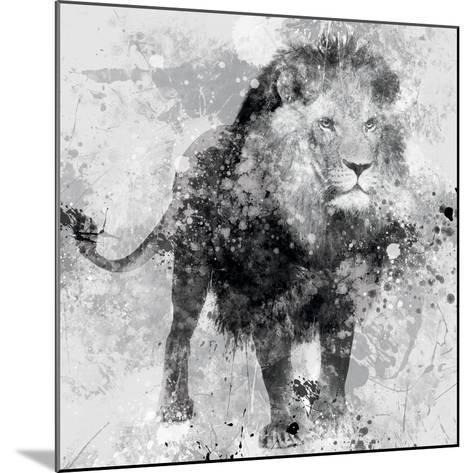 Lion-Carol Robinson-Mounted Art Print