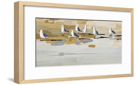 Late Afternoon Gathering ?-Angela Maritz-Framed Art Print