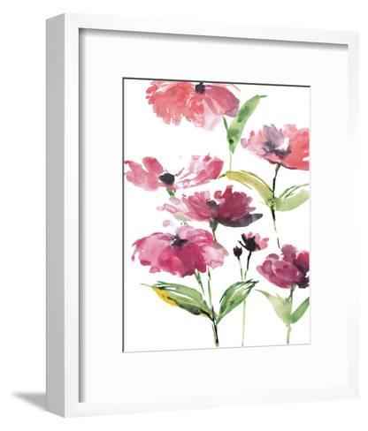 Tickled Pink Posies-Rebecca Meyers-Framed Art Print
