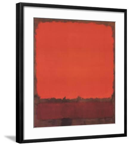 Orange, Red, and Red-Mark Rothko-Framed Art Print