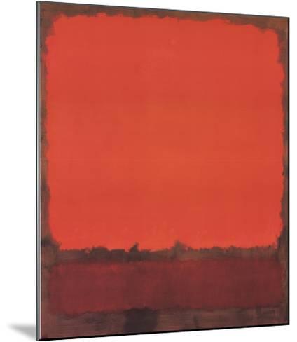 Orange, Red, and Red-Mark Rothko-Mounted Art Print