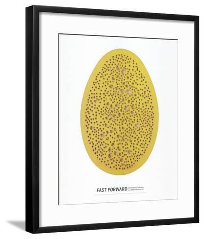 Spacial Concept, The End of God-Lucio Fontana-Framed Art Print