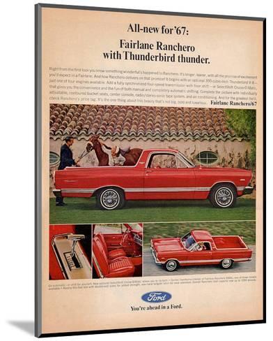 Ford 1967 Fairlane Ranchero--Mounted Art Print