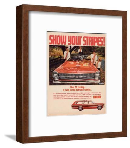 Ford 1967 Fairlane GT -Stripes--Framed Art Print