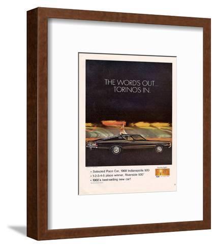 Ford 1968 Torino's In-Pace Car--Framed Art Print