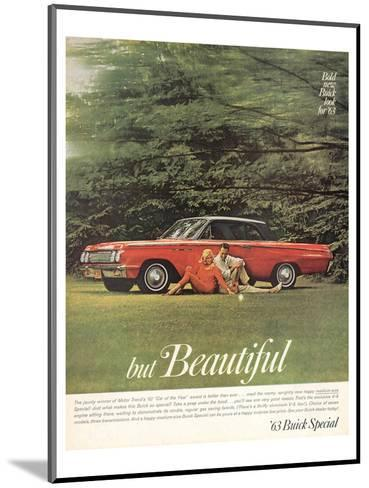 GM Bold New Buick Look for '63--Mounted Art Print