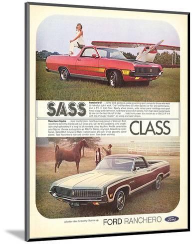 Ford 1971 Ranchero GT - Class--Mounted Art Print