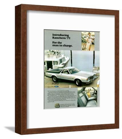 Ford 1977 Ranchero - in Charge--Framed Art Print