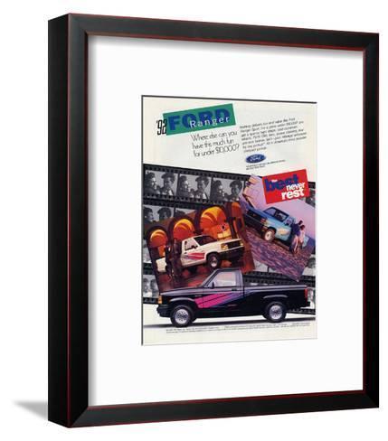 Ford 1992 Ranger - Never Rest--Framed Art Print
