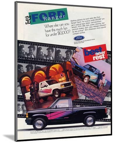 Ford 1992 Ranger - Never Rest--Mounted Art Print