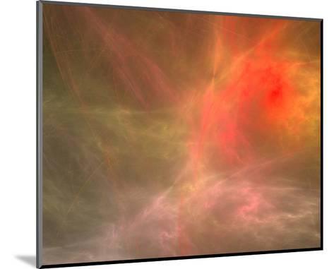 Fractal Cosmic Nebula Canvas--Mounted Art Print