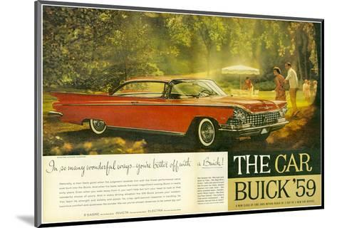 GM -Better Off With a Buick--Mounted Art Print