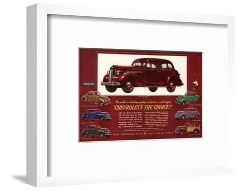 GM Chevrolet's the Choice--Framed Art Print