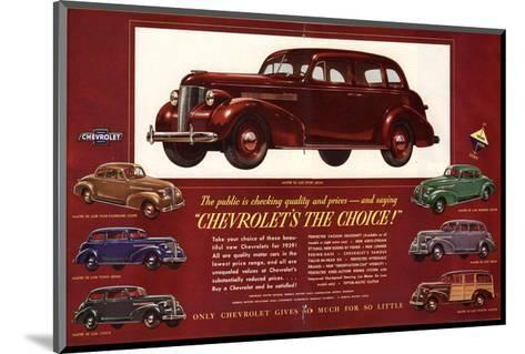 GM Chevrolet's the Choice--Mounted Art Print