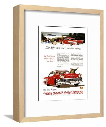 GM Buick-Bound to Make History--Framed Art Print