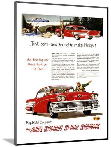 GM Buick-Bound to Make History--Mounted Art Print