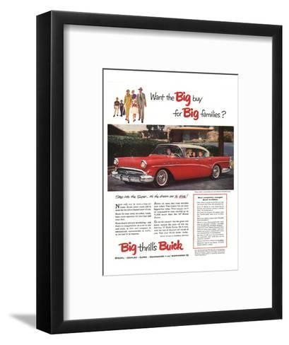 GM Buick-Buy for Big Families--Framed Art Print