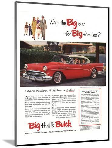 GM Buick-Buy for Big Families--Mounted Art Print