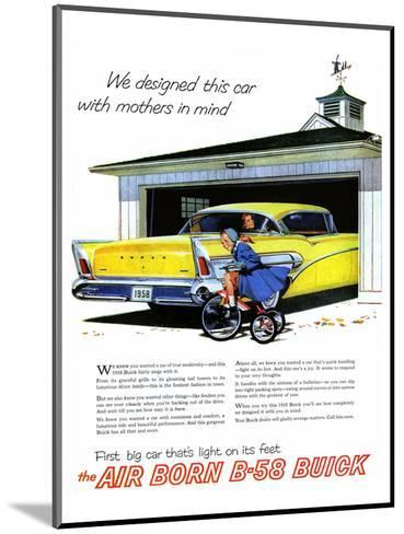 GM Buick-Car Light On Its Feet--Mounted Art Print