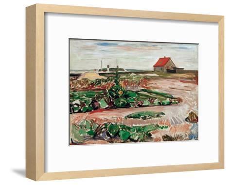 Lanscape near Travemunde, 1907-Edvard Munch-Framed Art Print