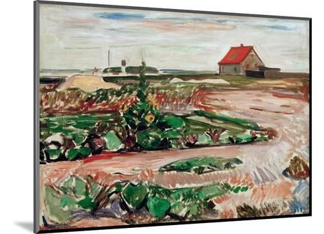 Lanscape near Travemunde, 1907-Edvard Munch-Mounted Giclee Print