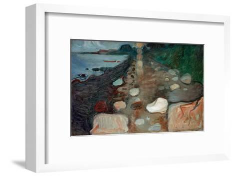 Moonlight on the Beach, 1892-Edvard Munch-Framed Art Print