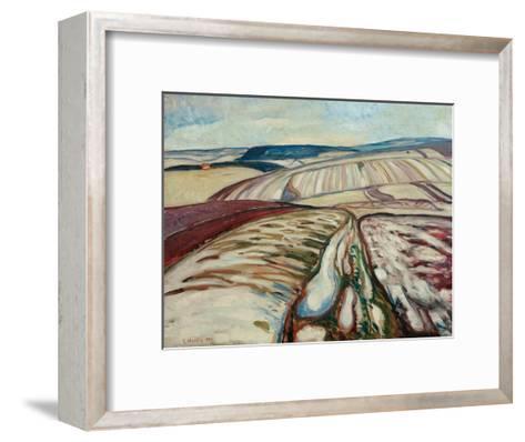 Thaw, 1906-Edvard Munch-Framed Art Print