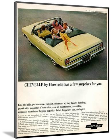 GM Chevy Chevelle Surprises--Mounted Art Print