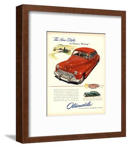 GM Oldsmobile-Postwar Driving!--Framed Art Print