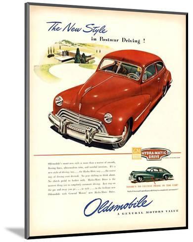 GM Oldsmobile-Postwar Driving!--Mounted Art Print