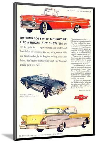 GM Springtime Bright New Chevy--Mounted Art Print