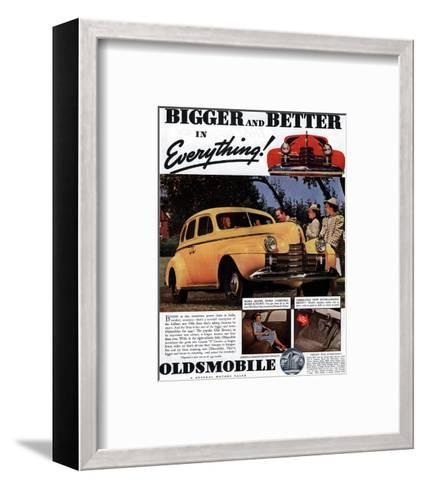 GM Oldsmobile Bigger & Better--Framed Art Print