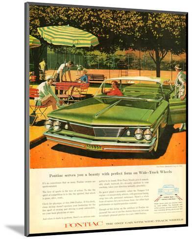 GM Pontiac - Wide Track Wheels--Mounted Art Print
