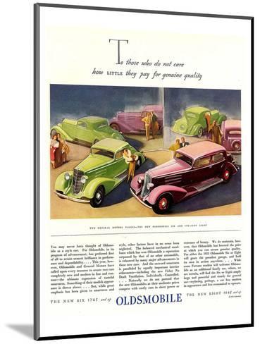 GM Oldsmobile-Genuine Quality--Mounted Art Print