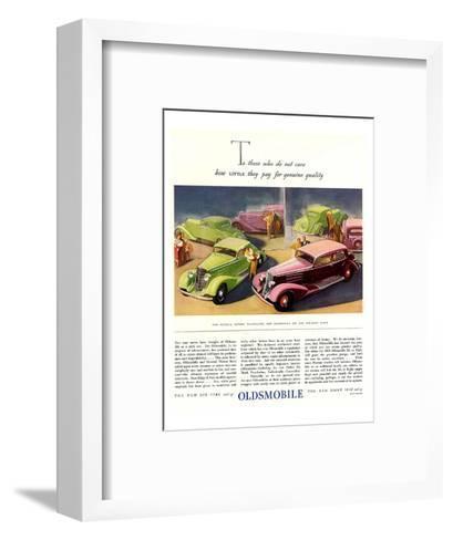 GM Oldsmobile-Genuine Quality--Framed Art Print